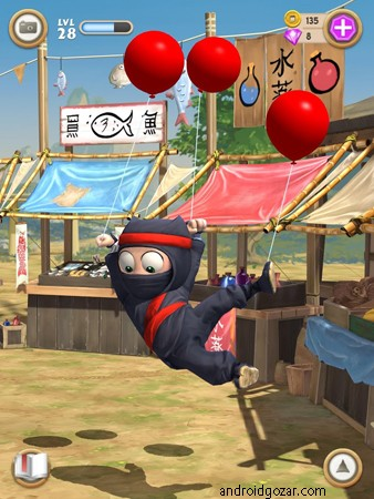 Clumsy Ninja 1.31.0 دانلود بازی نینجا دست و پا چلفتی+مود+دیتا