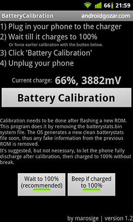 Battery Calibration 2.3 دانلود نرم افزار کالیبره کردن باتری اندروید + آموزش