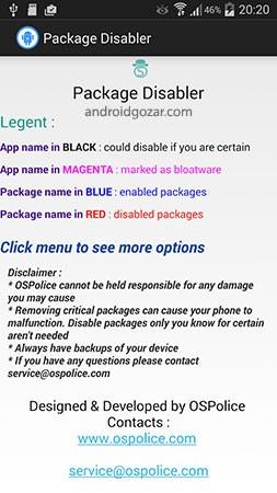 Package Disabler Pro 15.0 غیر فعال کردن پکیج و برنامه اندروید