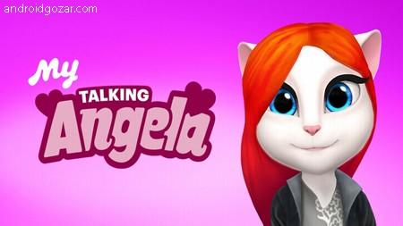 دانلود My Talking Angela 5.1.1.981 بازی آنجلا سخنگو اندروید + مود