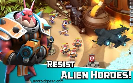 دانلود Alien Creeps TD 2.30.0 – بازی برج دفاعی اندروید + مود