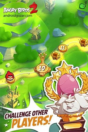دانلود Angry Birds 2 2.52.0 بازی پرندگان خشمگین 2 اندروید + مود