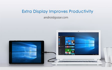 Splashtop Wired XDisplay 1.0.0.11 تبدیل دستگاه اندروید به نمایشگر دوم کامپیوتر
