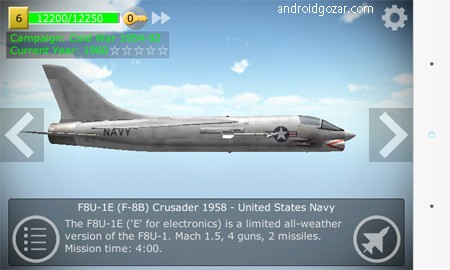 Strike Fighters 2.11.3 دانلود بازی حمله جنگنده ها اندروید + مود