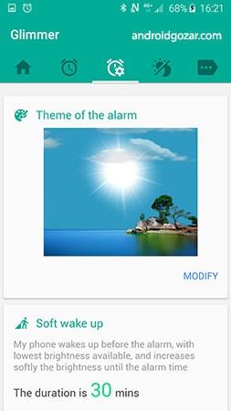 Glimmer (luminous alarm clock) Premium 2.0.32 دانلود ساعت زنگ دار درخشان