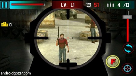 Sniper Shoot War 3D 2.3 دانلود بازی اکشن جنگ تک تیرانداز