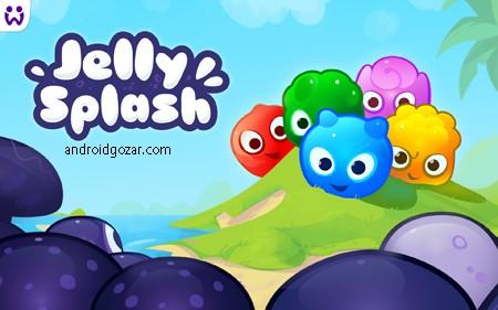 Jelly Splash 3.15.1 دانلود بازی فکری اتصال ژله ها اندروید + مود