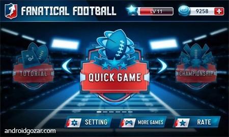 Fanatical Football 1.8 دانلود بازی فوتبال آمریکایی + مود