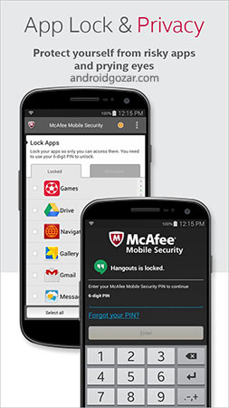 McAfee Security & Power Booster 4.5.1.1051 دانلود آنتی ویروس موبایل مک آفی