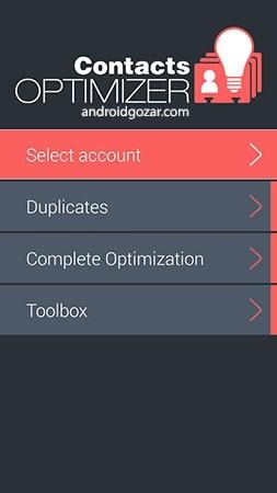 Contacts Optimizer PRO 6.1.4 دانلود نرم افزار بهینه ساز مخاطبین