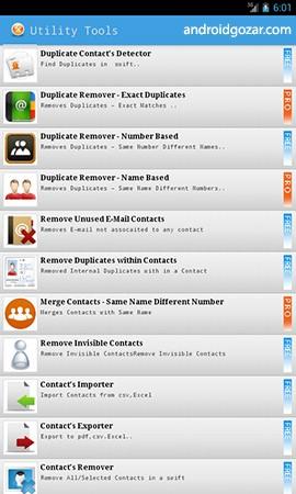 Duplicate Contacts & Utilities Pro 3.6 حذف مخاطبین تکراری
