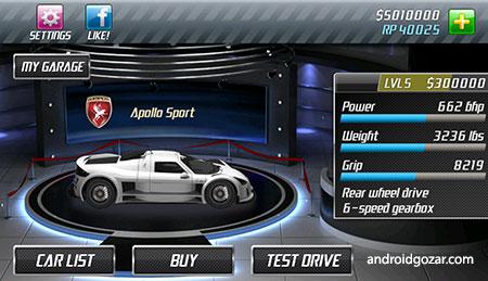 Drag Racing 1.7.81 دانلود بازی مسابقه ماشین سواری سرعت اندروید + مود