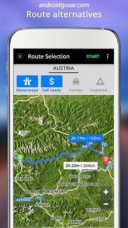 GPS Navigation Full 16.4.3 دانلود مسیریاب آفلاین اندروید + دیتا