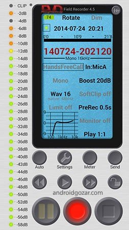 Field Recorder 8.4 دانلود نرم افزار حرفه ای ضبط صدا و مکالمات اندروید