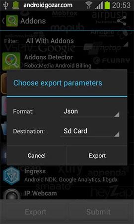 Addons Detector Premium 3.56 شناسایی تبلیغات و نوتیفیکیشن های اندروید
