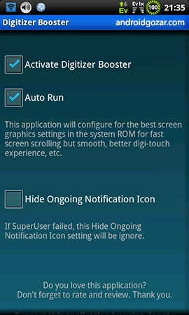 Digitizer Booster Donate (root) 4.6.1 Patched دانلود نرم افزار تقویت کننده دیجیتایزر