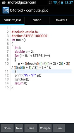 C4droid – C/C++ compiler & IDE 5.98 کامپایلر و برنامه نویسی اندروید +پلاگین ها