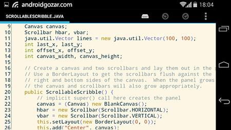 DroidEdit Pro (code editor) 1.23.7 دانلود نرم افزار ویرایشگر کد اندروید