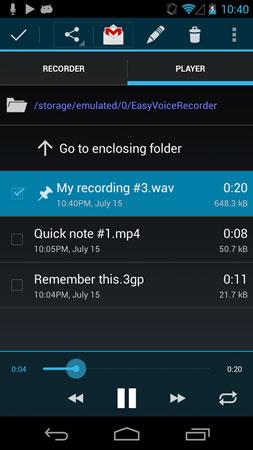 دانلود Easy Voice Recorder Pro 2.7.6 برنامه ضبط صدا پیشرفته اندروید