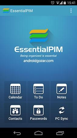 EssentialPIM Pro 5.6.1 دانلود نرم افزار مدیریت اطلاعات شخصی اندروید