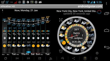 دانلود eWeather HD 8.4.0 برنامه پیش بینی آب و هوا اندروید