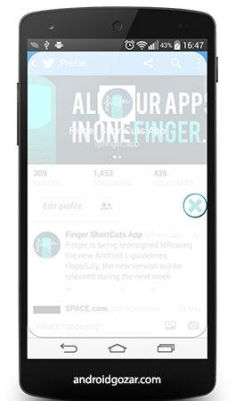Finger Gesture Launcher FULL 5.3.8 دانلود لانچر حرکت انگشت