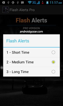 Flash Alerts on Call & SMS PRO دانلود نرم افزار هشدار فلاش برای تماس و پیامک