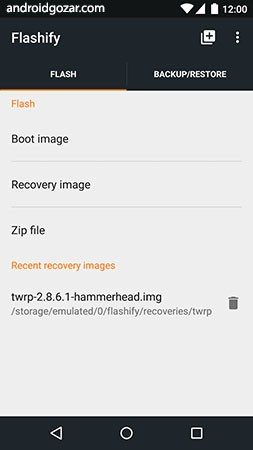 Flashify Premium (for root users) 1.9.2 دانلود نرم افزار فلش کردن