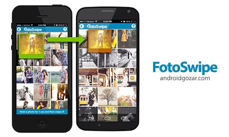 FotoSwipe -Swipe, Share Photos 1.2.1 دانلود نرم افزار اشتراک آسان عکس بین اندروید و iOS