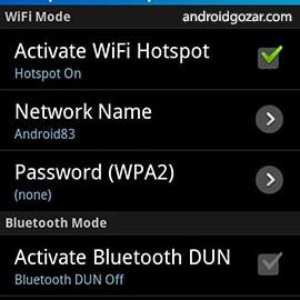 FoxFi FULL (WiFi Tether w/o Root) 2.20 اشتراک اینترنت موبایل