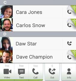 fring Free Calls, Video & Text 4.5.2.2 تماس و پیامک رایگان