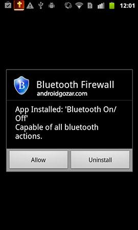 Bluetooth Firewall 4.0 دانلود نرم افزار فایروال بلوتوث اندروید