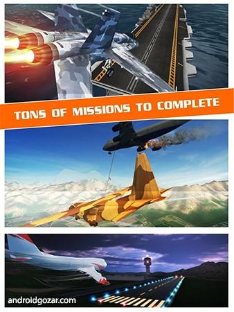 دانلود Flight Pilot Simulator 3D 2.5.12 – بازی شبیه ساز خلبان پرواز اندروید + مود