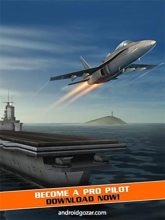 Flight Pilot Simulator 3D 1.5.0 دانلود بازی شبیه ساز خلبان پرواز + مود