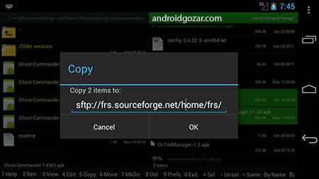 دانلود Ghost Commander File Manager 1.60.3 برنامه مدیریت فایل اندروید