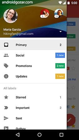 Gmail 9.1.13.233495724 دانلود نرم افزار موبایل جیمیل اندروید