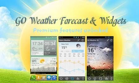 GO Weather Premium 6.07 دانلود نرم افزار آب و هوا اندروید
