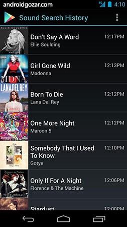 Sound Search for Google Play 1.1.12 دانلود ویجت شناسایی آهنگ