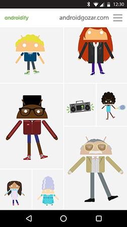 Androidify 4.2 دانلود نرم افزار ساخت شخصیت اندرویدی