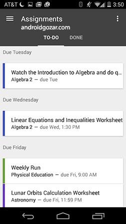Google Classroom 4.8.312.06.45 دانلود نرم افزار کلاس درس گوگل
