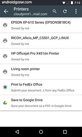 Google Cloud Print 1.39 دانلود نرم افزار چاپ ابری گوگل
