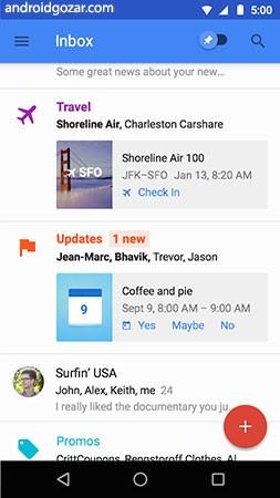 Inbox by Gmail 1.78.217178463 دانلود نرم افزار اینباکس جیمیل اندروید