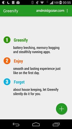 دانلود Greenify Donate 4.7.8 – برنامه گرینیفای اندروید
