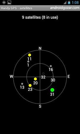 دانلود Handy GPS 34.2 هندی جی پی اس برنامه مختصات یاب اندروید