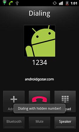 Hide Number (Caller Id) 2.6 مخفی کردن شماره تلفن اندروید