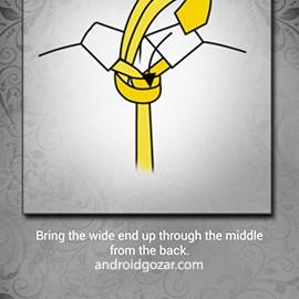 How to Tie a Tie Pro 4.0.9 دانلود نرم افزار آموزش بستن کراوات اندروید