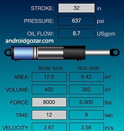 Hydraulic Calculator 3.0 دانلود ماشین حساب هیدرولیک اندروید