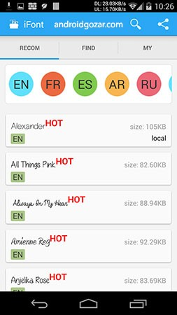 iFont (Expert of Fonts) Donate 5.9.6 دانلود نرم افزار تغییر فونت اندروید