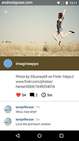 Imagine for Instagram 4.0.10 دانلود کلاینت اینستاگرام اندروید