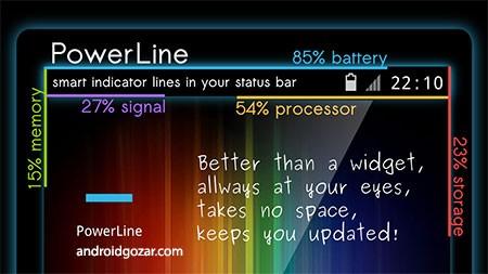 PowerLine Pro 4.3 دانلود خط شاخص هوشمند در نوار وضعیت اندروید